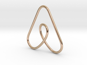 Airbnb Keychain in 14k Rose Gold Plated