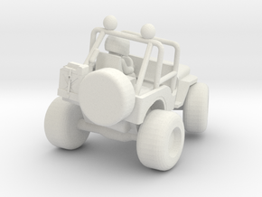 Wild Willy M38 model with turned in wheels in White Natural Versatile Plastic