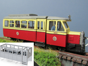 Part R-3 Railcar Body  in White Processed Versatile Plastic