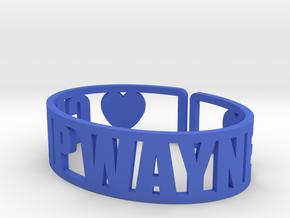 Camp Wayne Cuff in Blue Processed Versatile Plastic