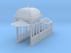 S Scale (1:64) Subway Kiosk Entrance in Smooth Fine Detail Plastic
