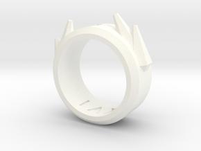 2016 Futuristic Ring in White Processed Versatile Plastic