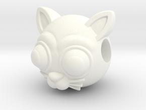 Reversible Cat head pendant in White Processed Versatile Plastic