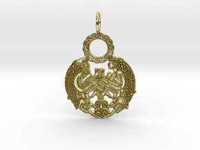 Celtic Pendant in 18k Gold Plated Brass