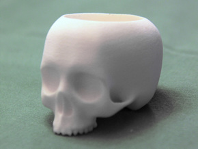 Skull Pot V1 - H48MM in White Strong & Flexible