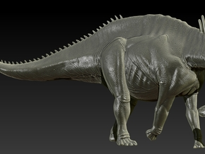1/40 Amargasaurus - Neck Down in White Natural Versatile Plastic