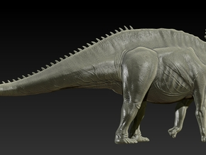 1/40 Amargasaurus - Walking 2 in White Natural Versatile Plastic
