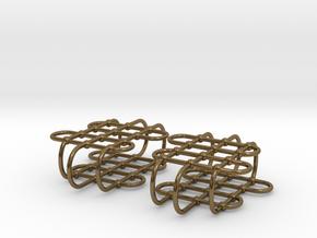 Jungle Gym -- Precious Metal Earrings in Polished Bronze