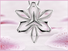 Lily Pendant in Fine Detail Polished Silver