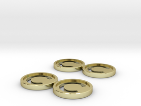 7mm Coins (Type1), x4 in 18k Gold