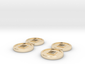 7mm Coins (Type2), x4 in 14K Yellow Gold