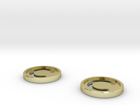 7mm Coins (Type1), x2 in 18k Gold Plated