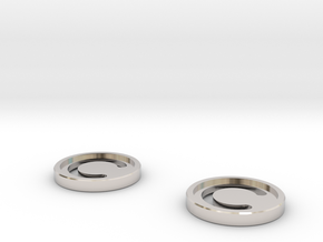 7mm Coins (Type1), x2 in Rhodium Plated Brass