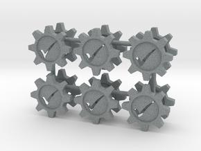 Checkmark Cog Boardgame Token (x12) in Polished Metallic Plastic