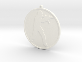 Counter Strike Source Necklace / Keychain in White Processed Versatile Plastic