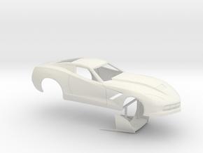 1/25 2014 Pro Mod Corvette No Scoop in White Strong & Flexible