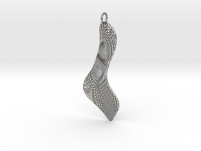 Texture Earring #3 in Natural Silver