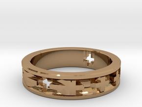 Swiss Cross in Polished Brass: 2.75 / 43.375