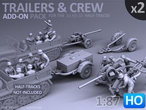 Trailers & Crew : Add-on (2 pack) - 1:87 - HO in Smooth Fine Detail Plastic