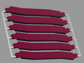 6 short maroon struts, sprued in White Strong & Flexible Polished