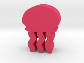 Game Piece, Jellyfish in Pink Processed Versatile Plastic