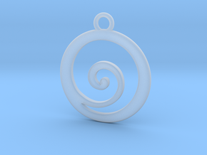 Koru Pendant in Smooth Fine Detail Plastic