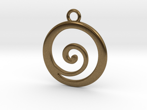 Koru Pendant in Natural Bronze