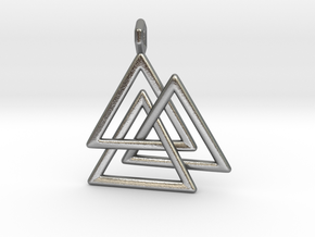 Vikings Valknut Pendant in Natural Silver