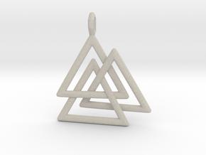 Vikings Valknut Pendant in Natural Sandstone