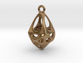 Rhomboid Pendant in Natural Brass