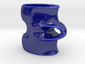 Stratus Cup  in Gloss Cobalt Blue Porcelain