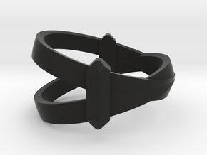 Coinciedence Ring  Size 12  21,4 Mm in Black Natural Versatile Plastic