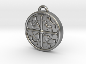 F-T keychain in Natural Silver
