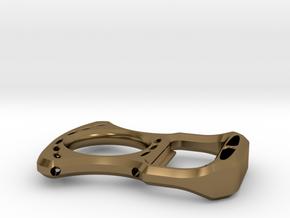 Fatback bottle opener (Perfect for EDC) in Polished Bronze