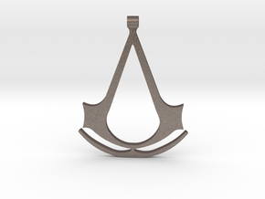 Assassins Creed Pendant in Polished Bronzed Silver Steel