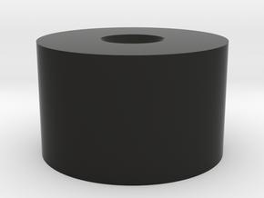 Modular AK Silencer: End cap part in Black Natural Versatile Plastic