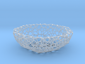 Mini shell / bowl (4 cm) - Voronoi-Style #1 in Smooth Fine Detail Plastic