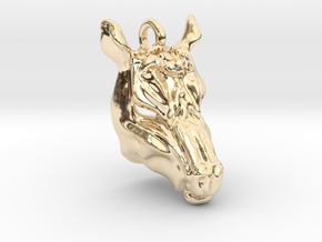 Horse 2 Pendant in 14K Yellow Gold