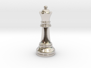 05Queen1 Small Single in Rhodium Plated