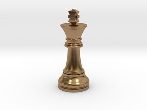 06King1 Small Single in Natural Brass