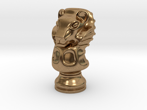 13Lion Small Single in Natural Brass