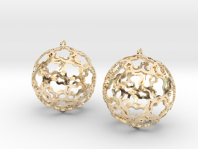 Earrings (set) Flower Ball 28 in 14k Gold Plated