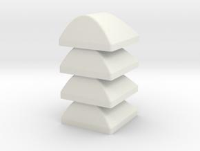 1:87 / H0 Windabweiser Container / Wind deflectors in White Natural Versatile Plastic