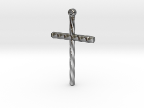 Twisted Cross in Polished Silver