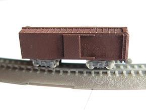 1/450 US 40ft wood boxcar body in Frosted Ultra Detail