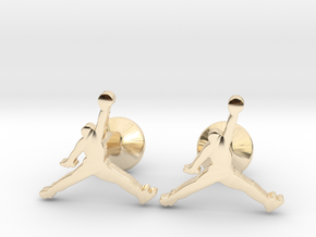 Jumpman Cufflinks in 14K Yellow Gold