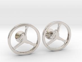 Jumpman Cufflinks v2 in Platinum