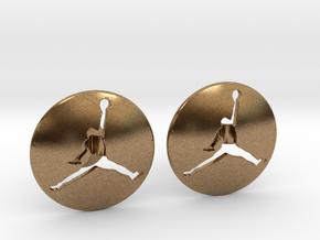 Jumpman Cufflinks v3 in Natural Brass