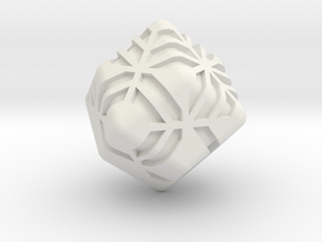 Stripes D12 (rhombic dodecahedron version) in White Natural Versatile Plastic