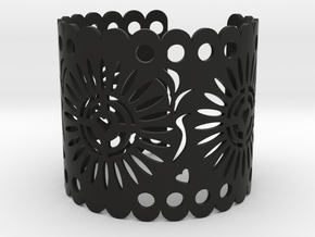 Papel Picado 1 in Black Natural Versatile Plastic